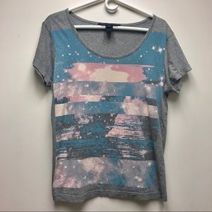 Marc by Marc Jacobs Neutral Grey Graphic Tee